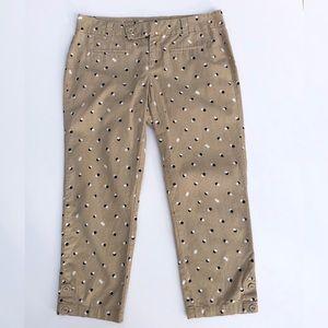 LOFT Ann Taylor Polka Dot Capri Pants Size 4